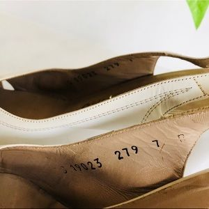 Salvatore Ferragamo Shoes - White Salvatore Ferragamo Peeptoe slingbacks Sz 7